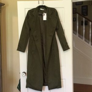 *NEW* ARMY GREEN TRENCH COAT